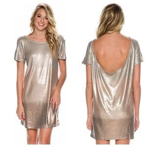 NTW Free People Rose Gold Dress